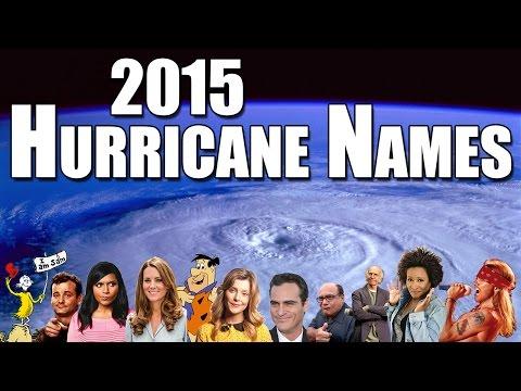 Hurricane Names for 2015