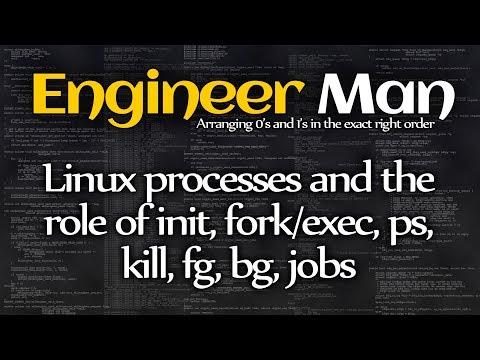 Linux Processes, Init, Fork/exec, Ps, Kill, Fg, Bg, Jobs