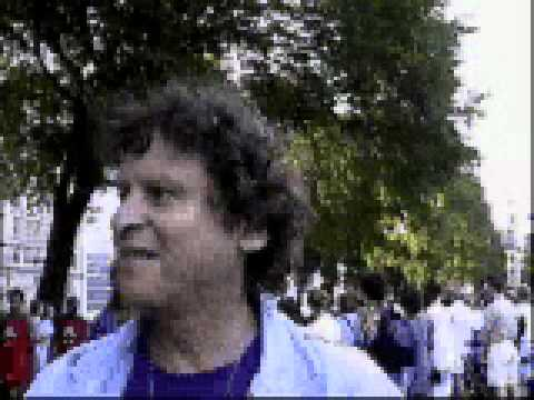 Paul Krassner at the 1996 Democratic National Convention