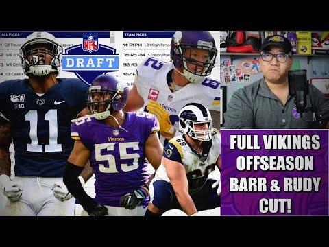 Minnesota Vikings Free Agency & 7-Round Mock Draft: Rudy & Barr Cut. Now What? 👀👀👀