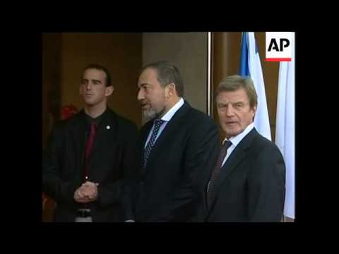 Palestinian PM on Israeli expansion, Lieberman reax