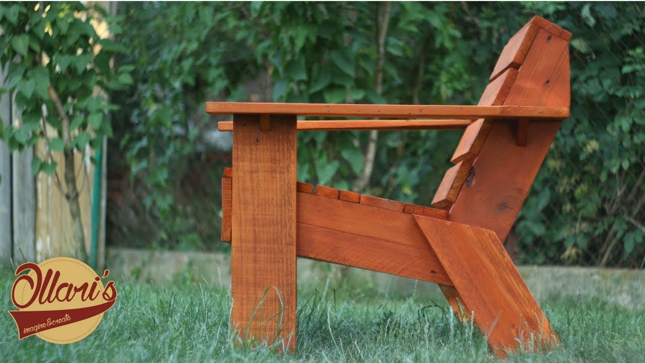 Make A Simple Outdoor Chair With Limited Tools Diy