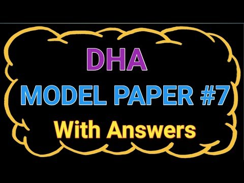 DUBAI HEALTH AUTHORITY DHA MODEL PAPER 7 With Answers || PHARMACIST JOBS IN DUBAI