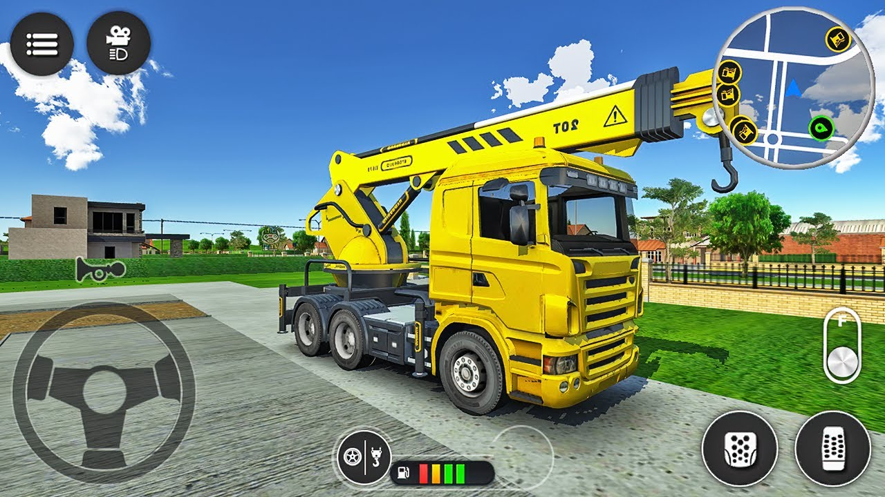Mobile Crane Truck Simulator - Truck Transporting Materials to Construction Site - Android Gameplay