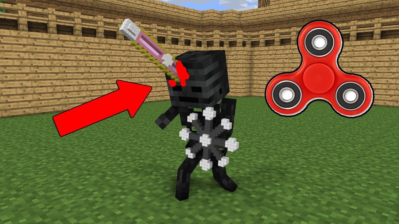 Monster School: Wither Skeleton Vs Zombie Pigman (Fidget Spinner Battle)