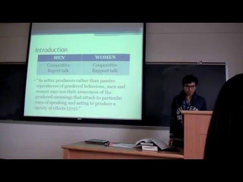 [Presentation] Performing Gender Identity: Young Men's Talk (Deborah Cameron)