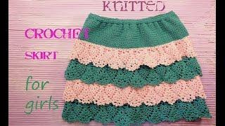 ☀☀☀ Летняя юбка для девочки крючком, для начинающих # knitted crochet skirt for girls