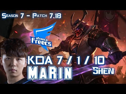 AFs MaRin SHEN vs RENEKTON Top - Patch 7.18 KR Ranked