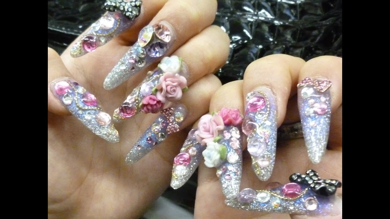 Nail Art In Japan 1 - YouTube
