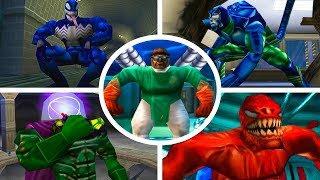 SPIDER-MAN - ALL BOSSES/TODOS CHEFES 1080p. (PS1)