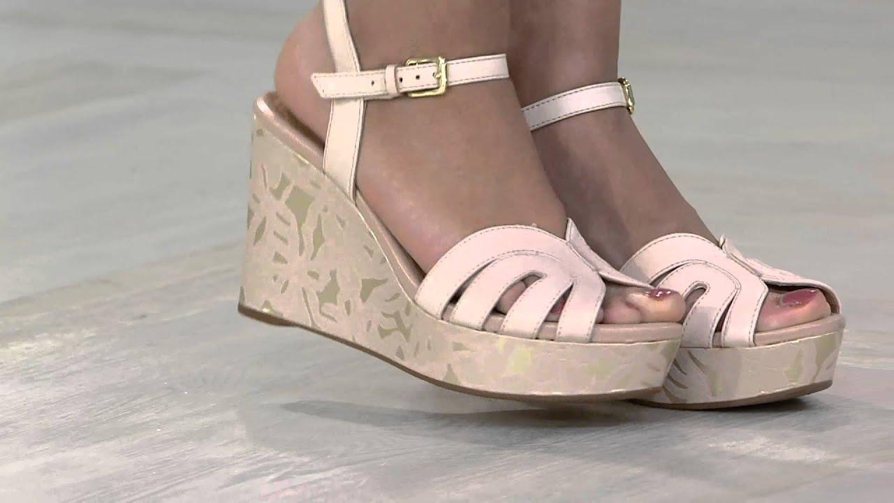 clarks artisan floral print wedge sandals