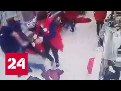 Бытовой конфликт в магазине перерос в стрельбу. Видео
