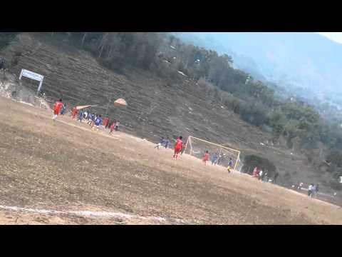 Playing football at khandbari