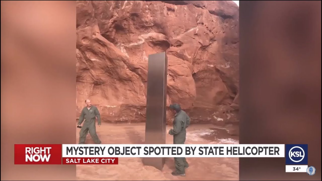 12 Ft Monolith discovered in Utah desert  that looks  similar to Movie 2001 Space Odyssey !