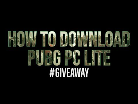 How to Download and Play Pubg Lite on your pc ll #giveaway