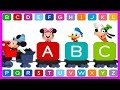 Disney Mickey Buddies ABC songs - Mickey Mouse Clubhouse Games For Kids | KIDS CLUB 123