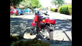 RICKMAN ZUNDAPP 125 ISDT - RUN UP THE ROAD & SOUND
