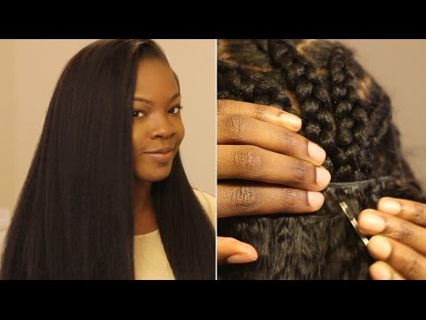 Crochet Braids No Knot Method : CROCHET SEW IN WEAVE W/ KNOT-LESS (NO KNOT) TECHNIQUE????????