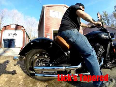 Licks Indian Scout Exhaust Sound Samples