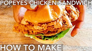 The Popeyes Chicken Sandwich Recipe HOW to make it at home Full recipe + sauce