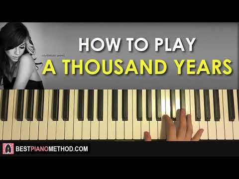 HOW TO PLAY  Christina Perri  A Thousand Years Piano Tutorial Lesson