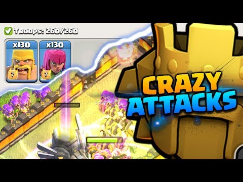 Crazy Barbarian and Archer Attacks vs TH11 in Titans League | Clash of Clans