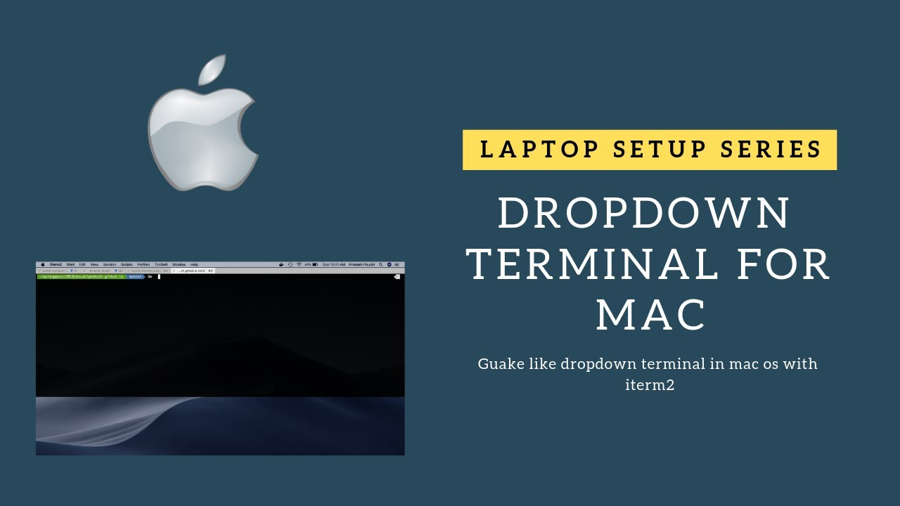 Guake like dropdown terminal in mac os with iterm2 - Prakash