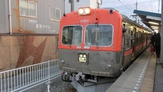 北陸鉄道8000系 上諸江駅 発車シーン