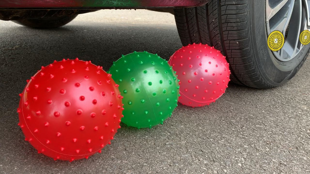 Experiment Car vs Soccer Ball vs Water Balloons | Crushing Crunchy & Soft Things by Car | Test S