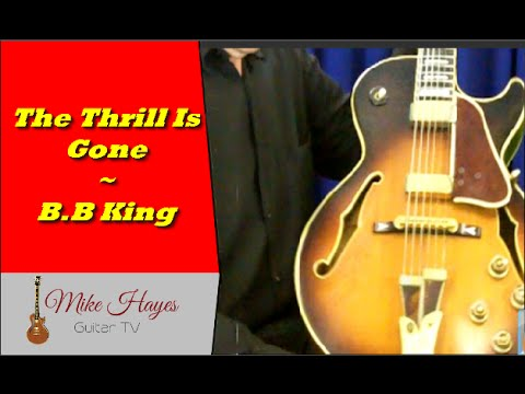 Chords On Guitar - The Thrill Is Gone B.B King - Chords On Guitar ...