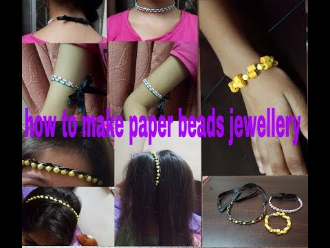 How to make paper beads jewellery