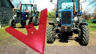 Как культивировать почву под сев подсолнуха. Трактора ЮМЗ-6КЛ и МТЗ-82 в работе.