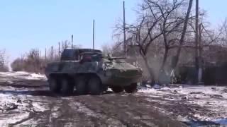 Война на Украине Дебальцево Реальный бой Ukraine War   Firefight between militias and army of Ukrain
