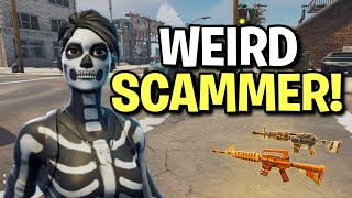 Weird Lying Scammer Scams Himself! (Scammer Get Scammed) Fortnite Save The World