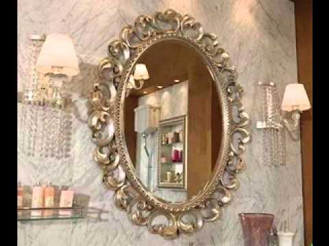 Decorative bathroom mirrors youtube for Miroirs decoratif
