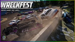 NASCAR DIRT RACING DESTRUCTION! | Wreckfest | NASCAR Legends Mod