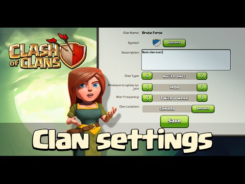 Clash Of Clans - ADVANCED CLAN SETTINGS!