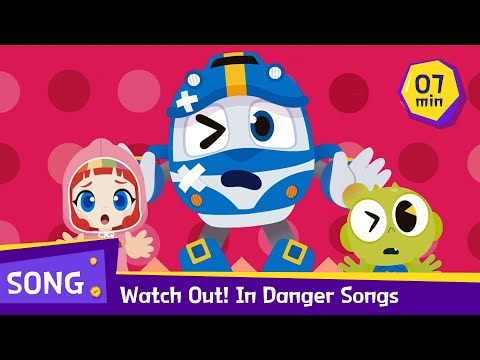 Watch Out! Help me! Safety Song | Special Compilation / 7 mins | RT in Danger | Robottrains official