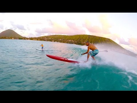 Surfing SUP Raceboards Oct.7, 2015