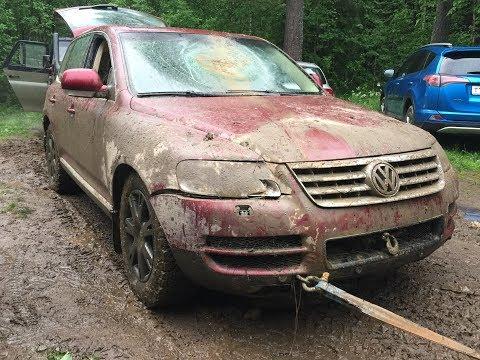 Как угробить VW Touareg за один OFF-road ?