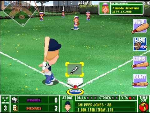 Merveilleux Backyard Baseball 2003 Postseason Gameplay:Divisional Series:Padres Vs  Fishes Game 1