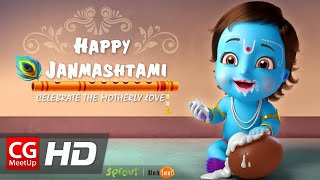 CGI Animated Spot: Krishna Janmashtami Wishes by Sprout, Black Saint, Aman | CGMeetup