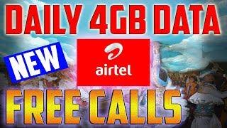 Airtel Dhamaka 112GB Plan, Daily 4GB High speed DATA FREE CAlls