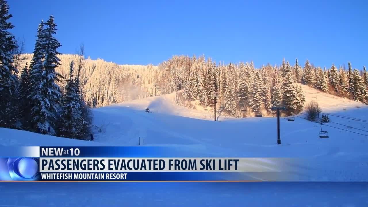 over 100 passengers evacuated from whitefish mountain resort ski