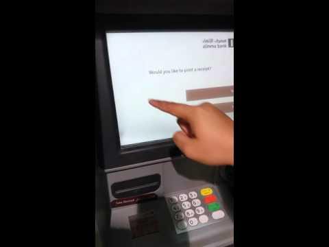 Cara tarik uang di atm saudi