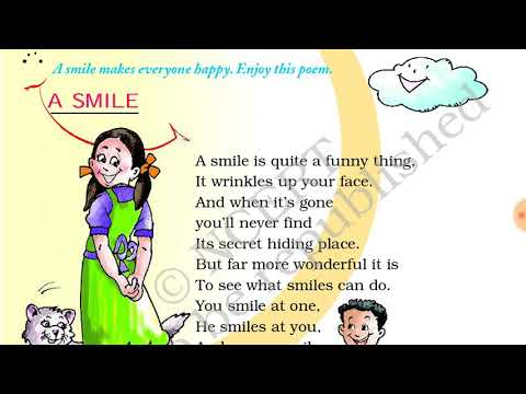 Poem 3 A Smile (English - Marigold, Grade 2, CBSE) Poem in Easy