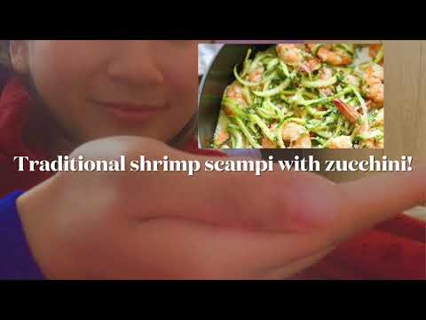 Traditional Shrimp Scampi Pasta with Zucchini   Yum 😋   First Tasty Tuesday Video in the Year 2021!