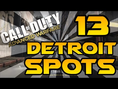 13 Detroit Spots & Glitches!  Advanced Warfare Lines of Sight, Jumps, Infected & Hiding Spots