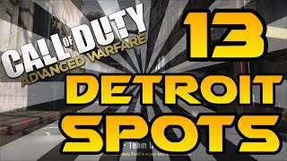 13 Detroit Spots & Glitches! - Advanced Warfare (Lines of Sight, Jumps, Infected & Hiding Spots)