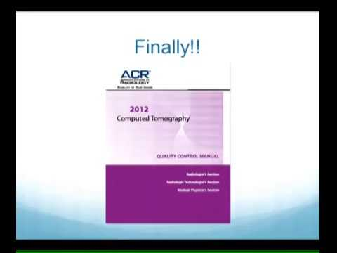 Ct qc manual array the new acr ct quality control manual role of the medical rh youtube com fandeluxe Choice Image